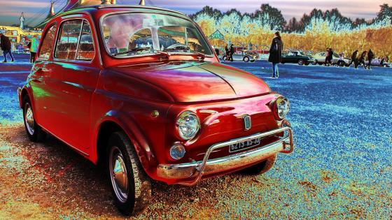 Fiat 500 Vintage car wallpaper