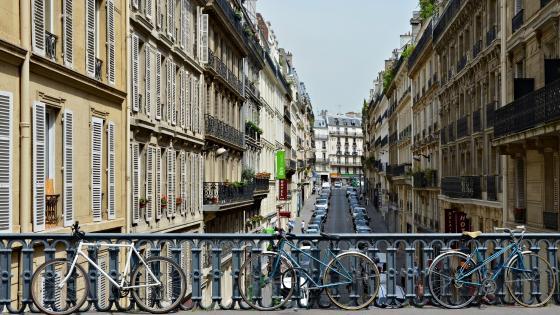 Above Pierre-Semard Street in Paris wallpaper