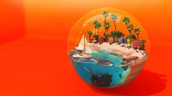 Fantasy Beach ball wallpaper