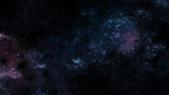 Stars in the dark blue deep space wallpaper