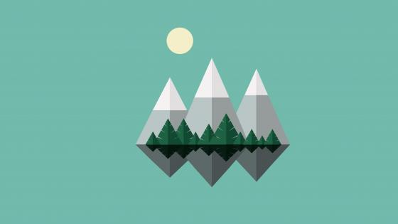 Minimal mountains wallpaper