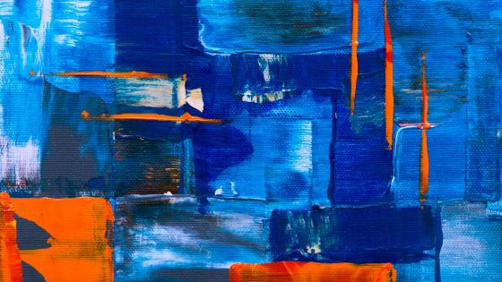 Expressionist blue abstract painting art wallpaper