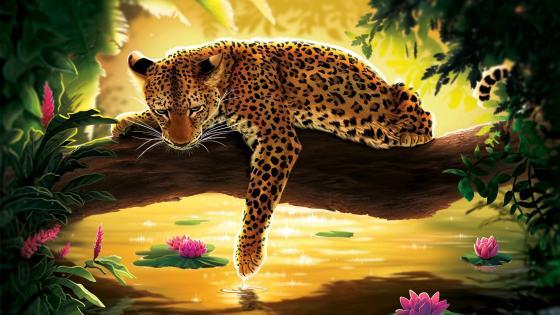 Sad Leopard wallpaper