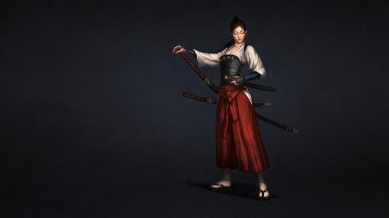 Japanese Iaido warrior woman wallpaper
