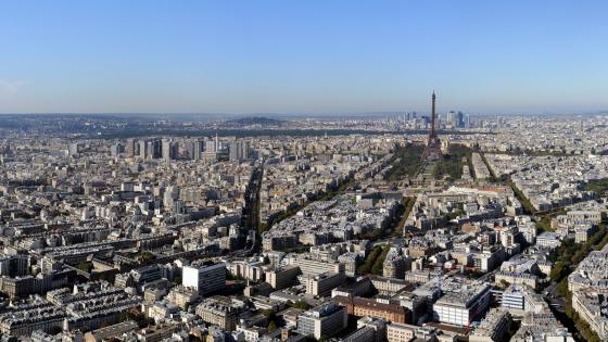 Panoramic Paris wallpaper