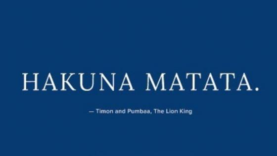 Hakuna Matata wallpaper