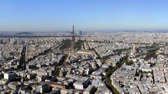 Panorama of Paris wallpaper