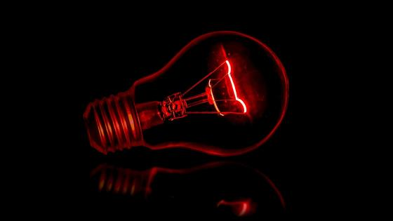 Red Light Bulb wallpaper