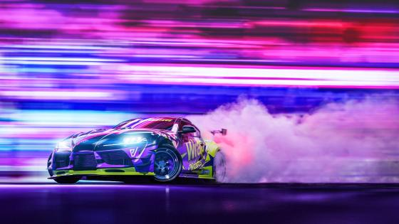 Toyota Supra drifting wallpaper