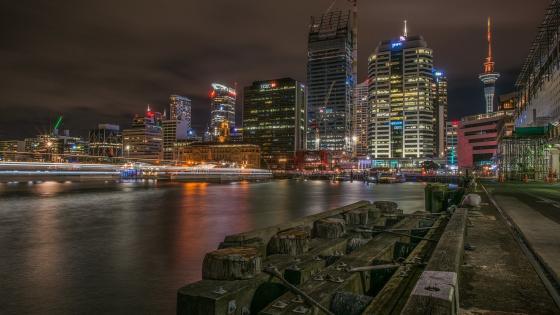 Auckland city lights wallpaper
