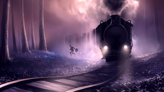 Escaping from train wallpaper