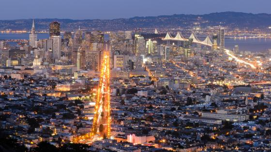 San Francisco from Twin Peaks wallpaper