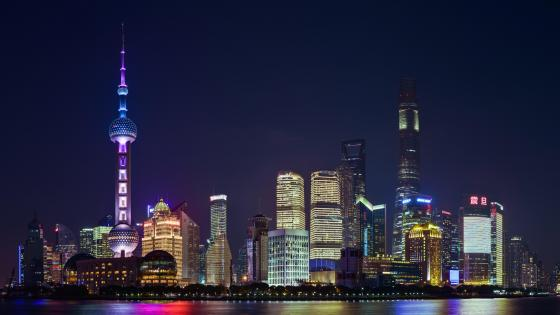 Pudong Nighttime Skyline wallpaper