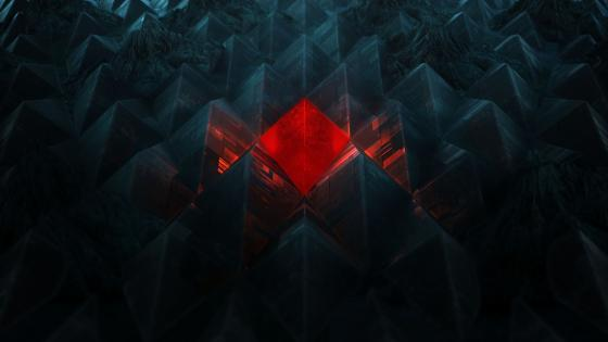 Bright red rhombus wallpaper