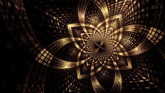 Bright fractal wallpaper