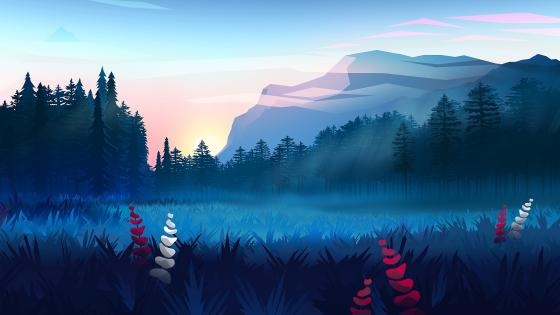 Digital landscape wallpaper