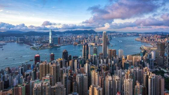 Hong Kong skyline from Victoria Peak wallpaper