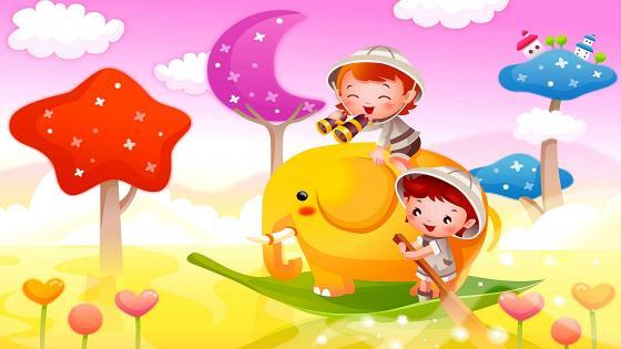 Little Explorers - Background for kids wallpaper