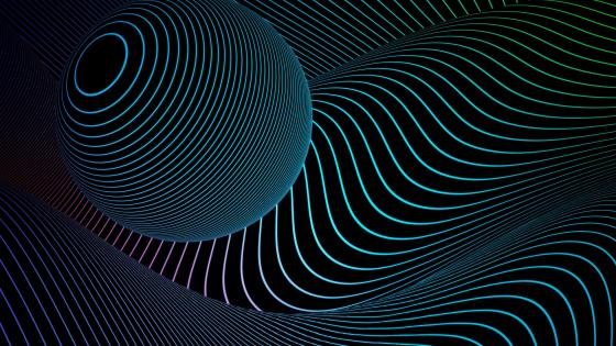 3D retrowave neon abstract art wallpaper