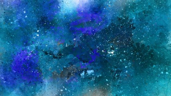 Blue space abstract art wallpaper