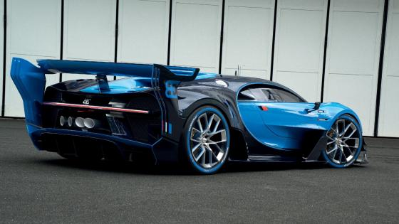 Bugatti Vision Gran Turismo rear view wallpaper