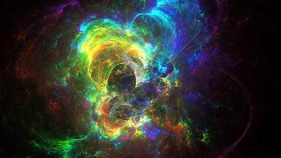 Cosmic abstraction wallpaper