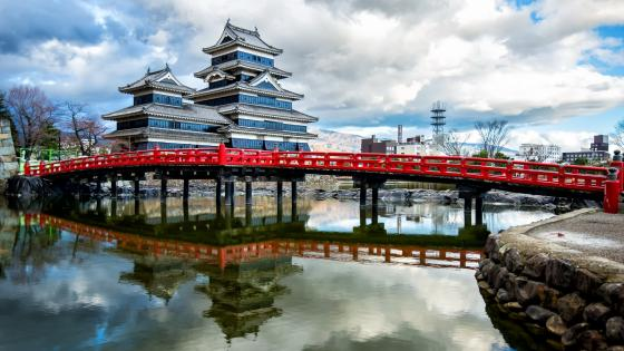 The bridge to Matsumoto castle wallpaper