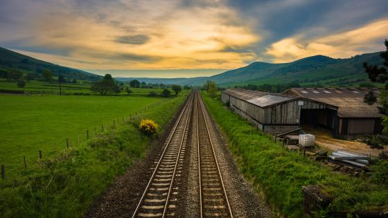 Countryside rails wallpaper