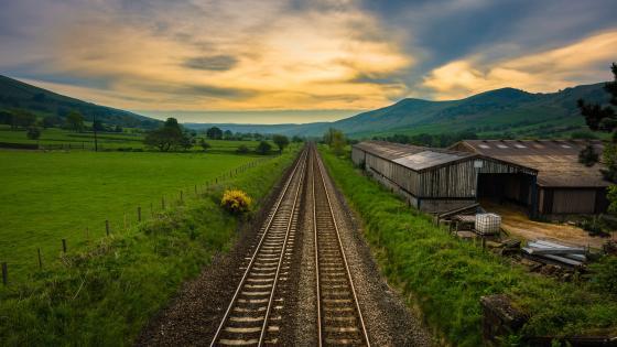 Countryside rails wallpaper