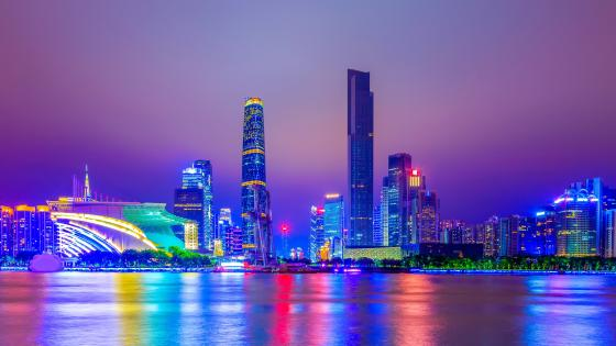 Shanghai at night wallpaper