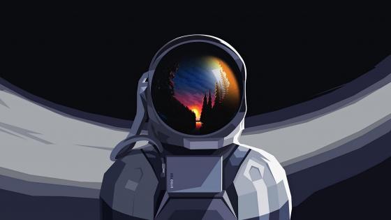 Fantasy Astronaut wallpaper