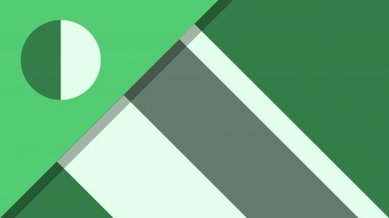 White and green material design abstraction wallpaper
