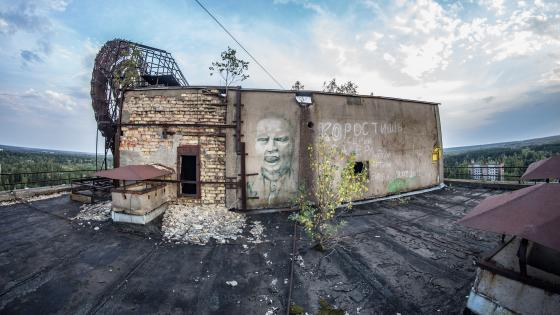 Abandoned place after the Chernobyl accident wallpaper