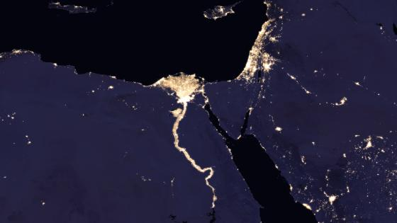 Night Lights of Israel & Cairo, Egypt 2016 wallpaper