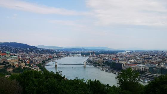 Danube from Gellert Hill (Budapest) wallpaper