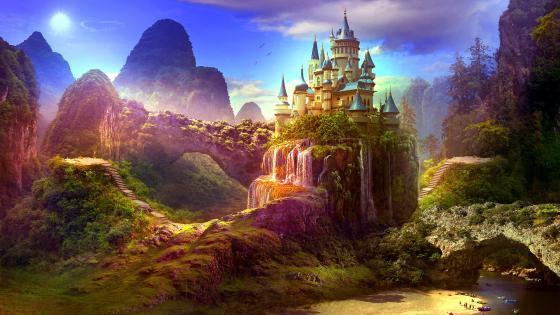 Dreamy Castle wallpaper