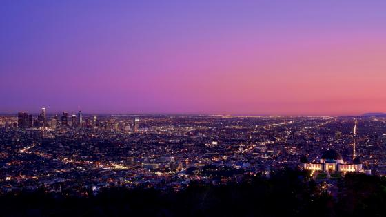 Los Angeles at night wallpaper