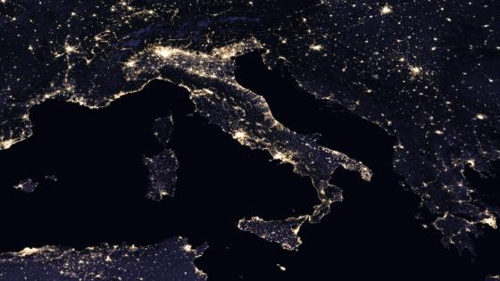 Night Lights of Italy 2016 wallpaper
