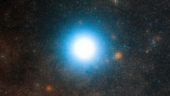 The Bright Star Alpha Centauri and its Surroundings wallpaper