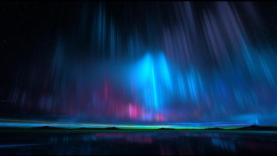 Blue Aurora Borealis wallpaper