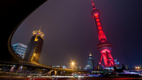 Oriental Pearl TV Tower at Night wallpaper