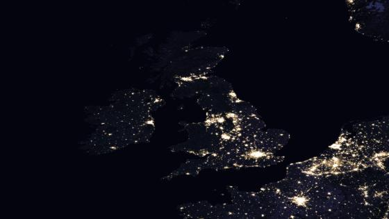 Night Lights of the United Kingdom & Ireland wallpaper