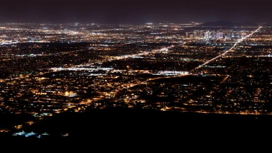 Phoenix, AZ at Night wallpaper