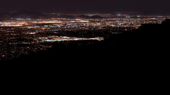 Panoramic Cityscape of Arizona wallpaper