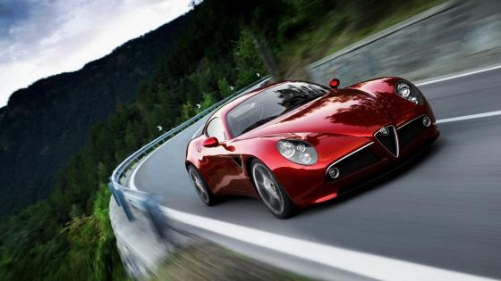 Red Alfa Romeo 8C wallpaper