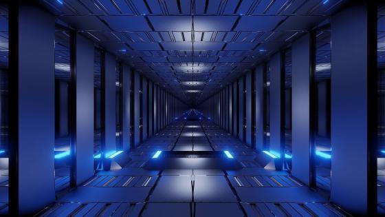 3D Corridor wallpaper