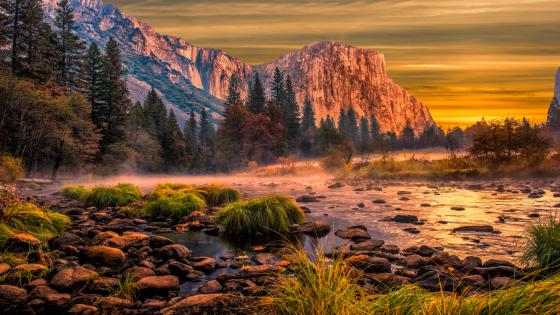 El Capitan and Merced River wallpaper