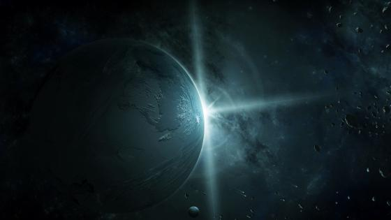 Planet Flash Light wallpaper