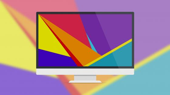 Colorful screen minimal art wallpaper