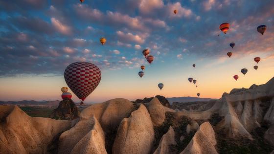 Cappadocia air balloons wallpaper